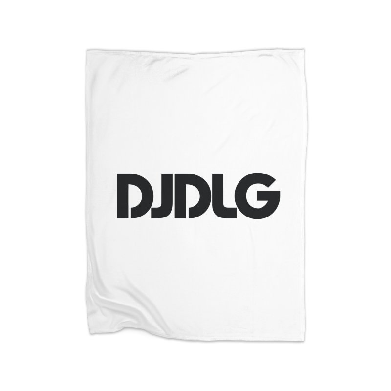 DJ DLG (Black Logo) Home Blanket by Lazor Music Merchandise