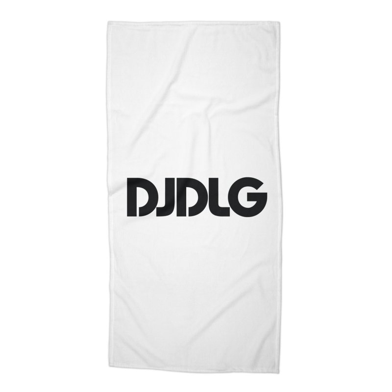DJ DLG (Black Logo) Accessories Beach Towel by Lazor Music Merchandise