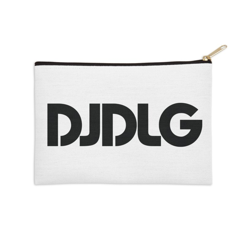 DJ DLG (Black Logo) Accessories Zip Pouch by Lazor Music Merchandise