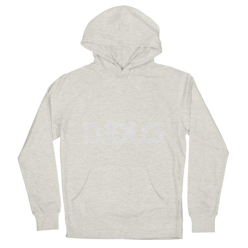 DJ DLG (White Logo) Men's Pullover Hoody by Lazor Music Merchandise