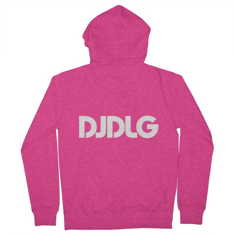 DJ DLG (White Logo) Women's Zip-Up Hoody by Lazor Music Merchandise