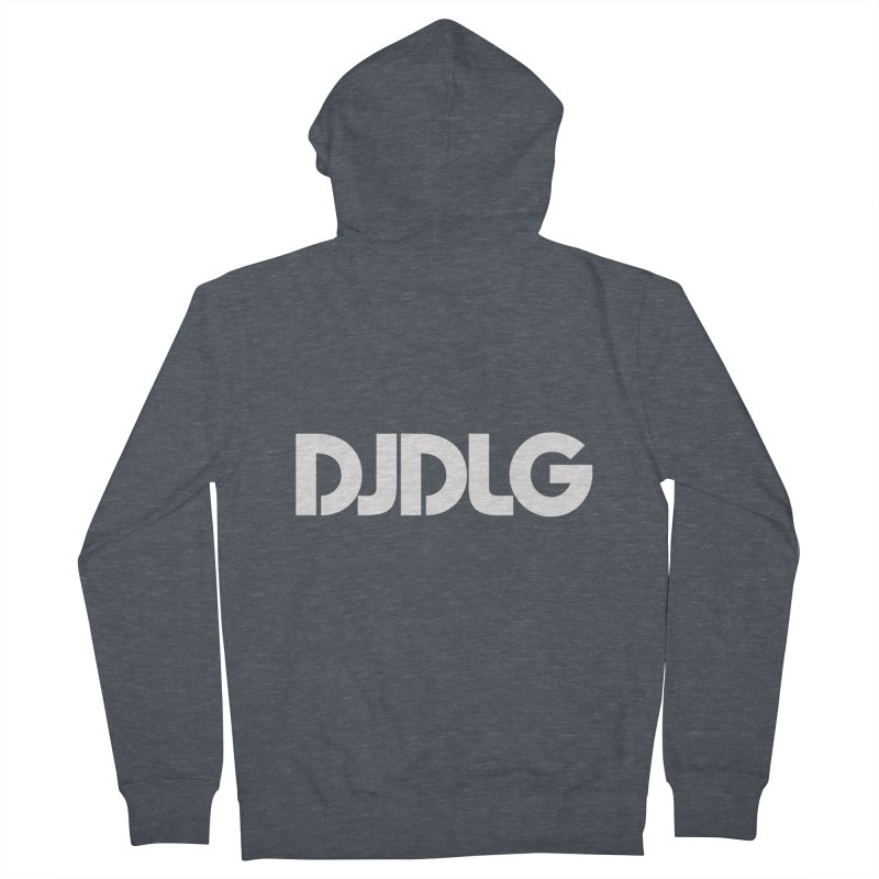 DJ DLG (White Logo) Men's Zip-Up Hoody by Lazor Music Merchandise