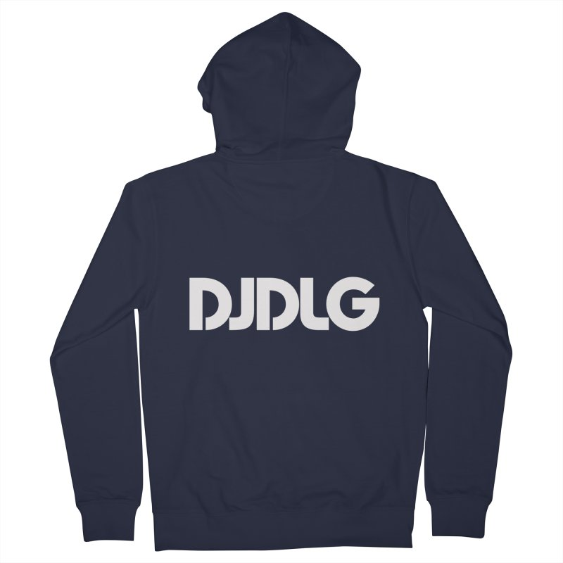 DJ DLG (White Logo) Men's Zip-Up Hoody by Lazor Music Merchandise