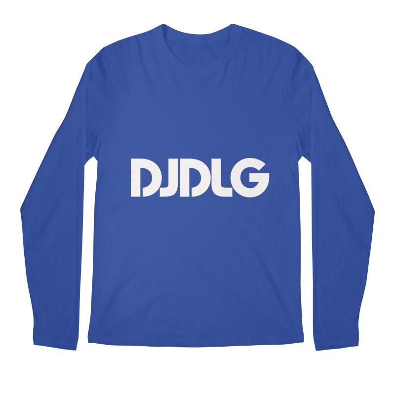DJ DLG (White Logo) Men's Longsleeve T-Shirt by Lazor Music Merchandise