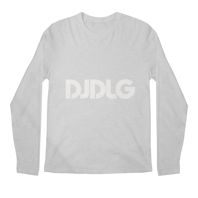 DJ DLG (White Logo) Men's Longsleeve T-Shirt by Lazor Music Merchandise