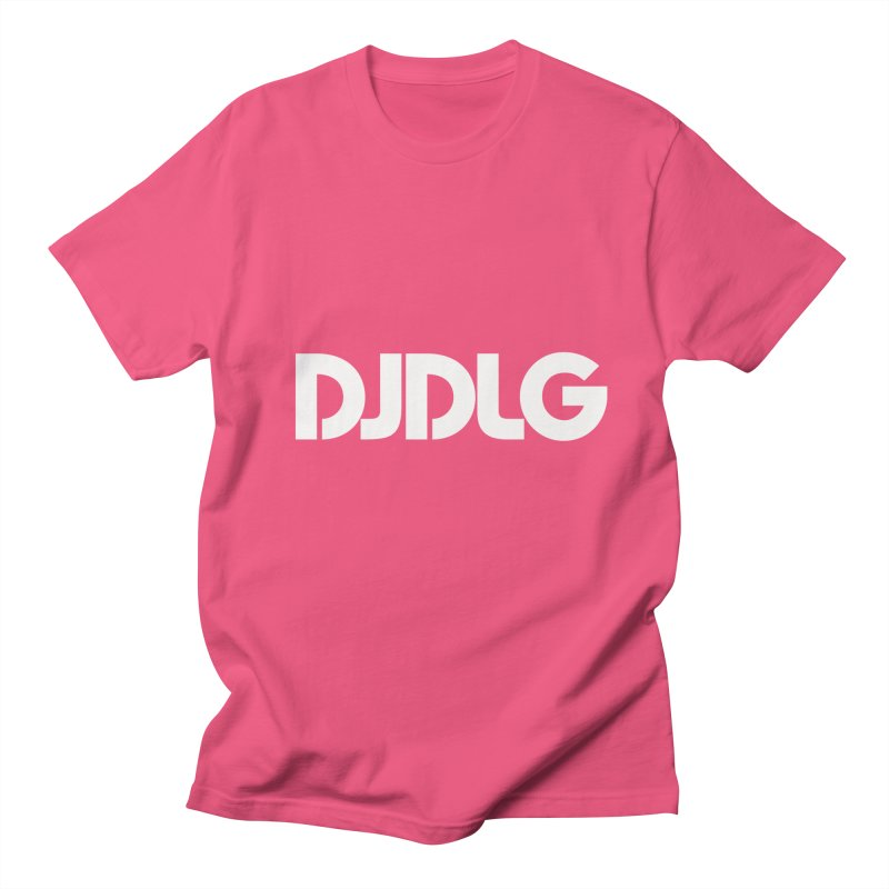 DJ DLG (White Logo) Men's T-Shirt by Lazor Music Merchandise