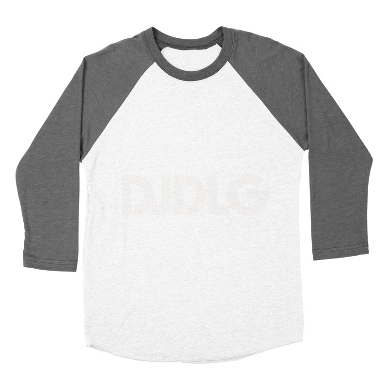 DJ DLG (White Logo) Men's Baseball Triblend T-Shirt by Lazor Music Merchandise