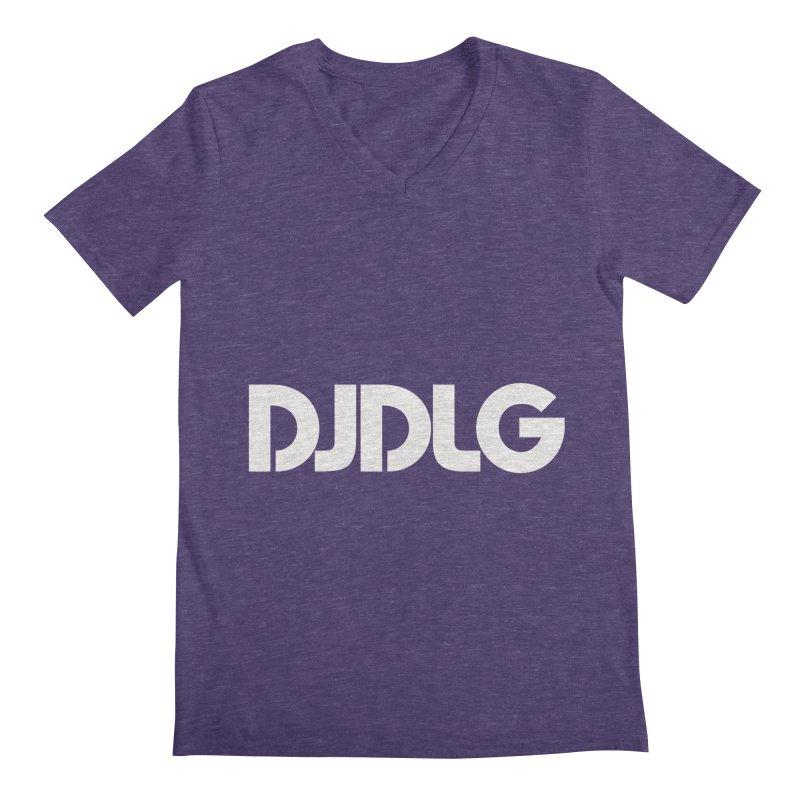 DJ DLG (White Logo) Men's V-Neck by Lazor Music Merchandise