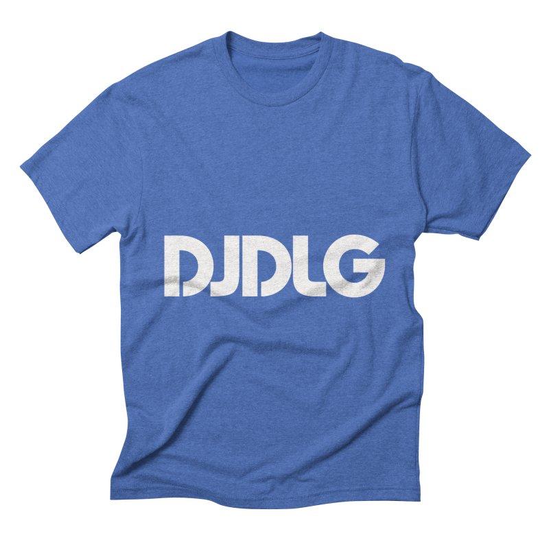 DJ DLG (White Logo) Men's Triblend T-shirt by Lazor Music Merchandise
