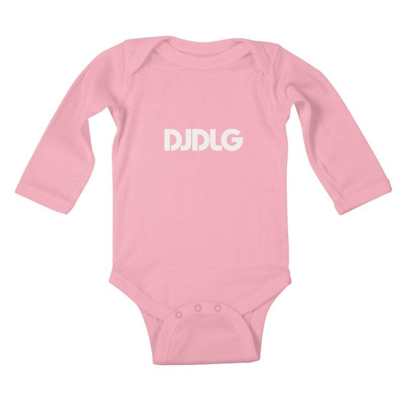 DJ DLG (White Logo) Kids Baby Longsleeve Bodysuit by Lazor Music Merchandise