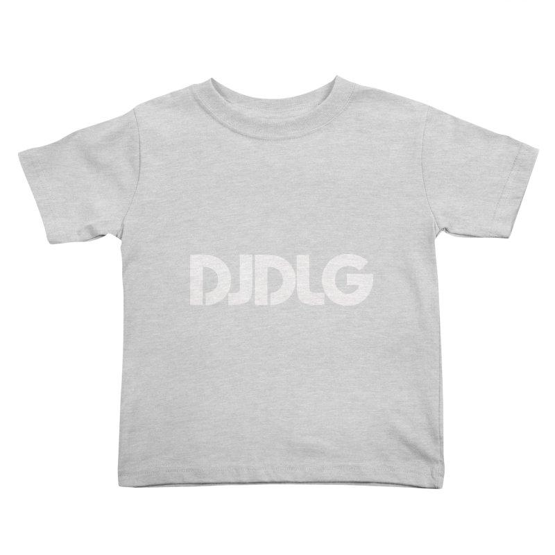 DJ DLG (White Logo) Kids Toddler T-Shirt by Lazor Music Merchandise