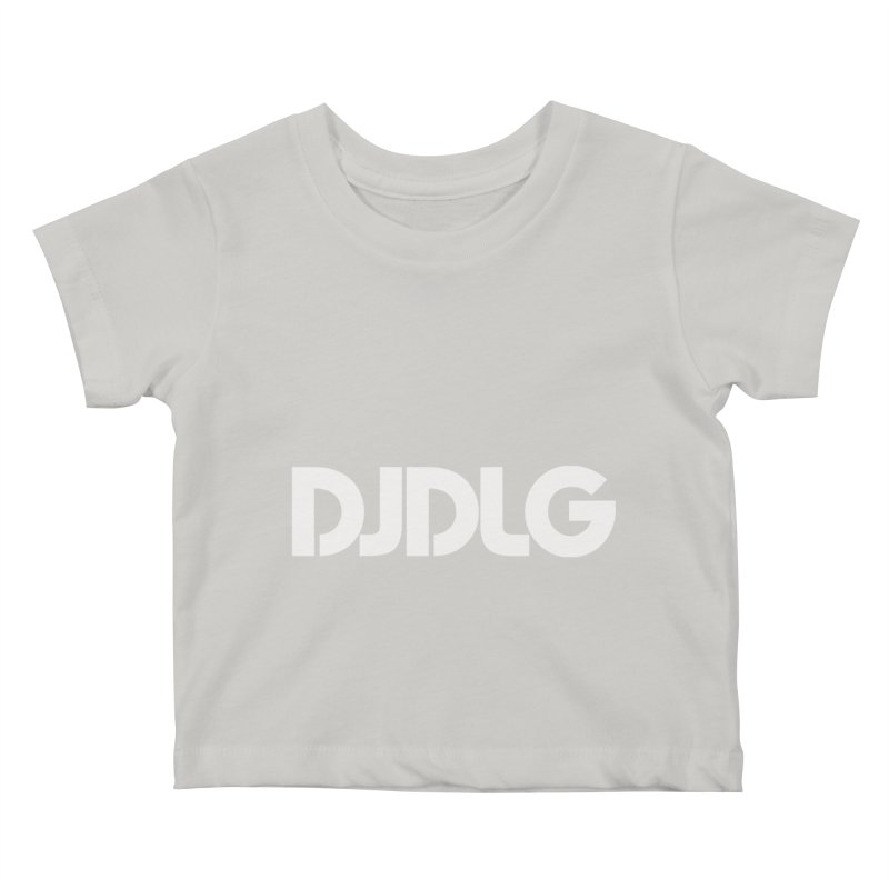DJ DLG (White Logo) Kids Baby T-Shirt by Lazor Music Merchandise