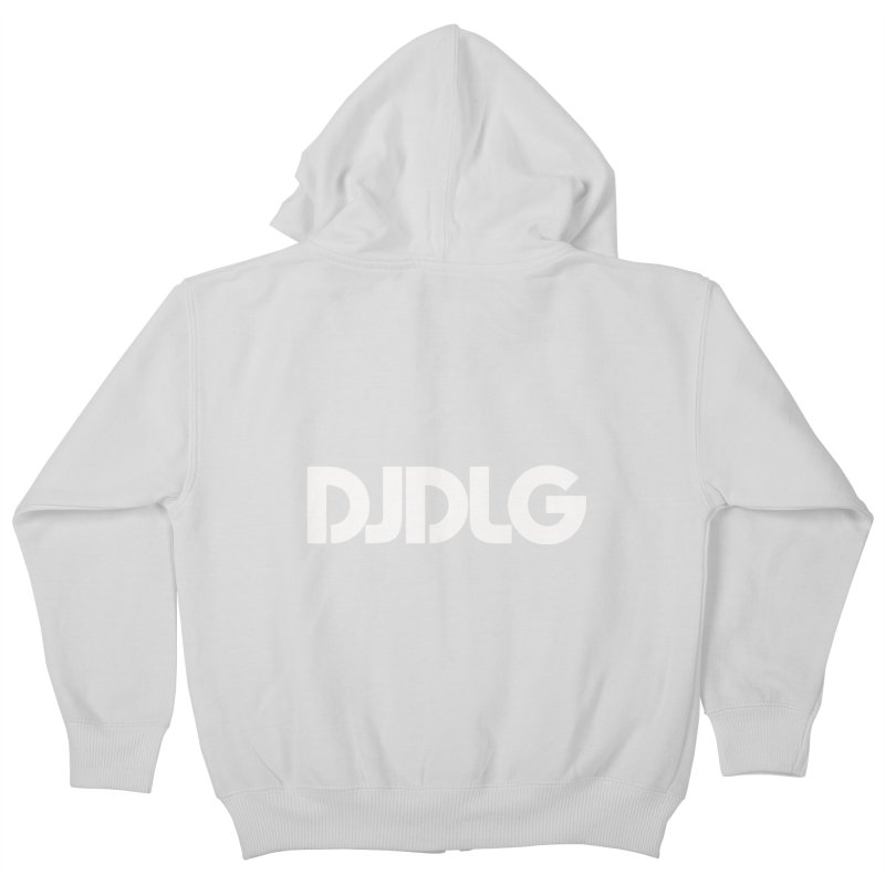 DJ DLG (White Logo) Kids Zip-Up Hoody by Lazor Music Merchandise