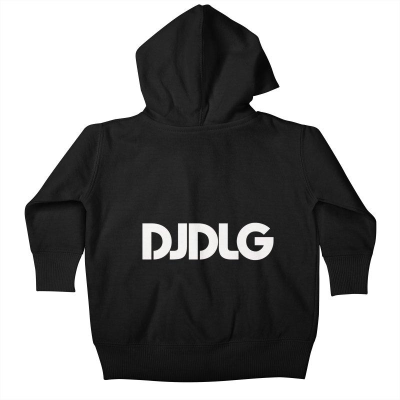 DJ DLG (White Logo) Kids Baby Zip-Up Hoody by Lazor Music Merchandise