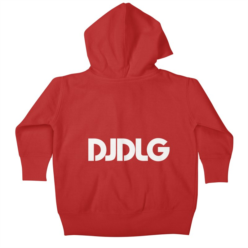 DJ DLG (White Logo) Kids Baby Zip-Up Hoody by Lazor Music Merchandise