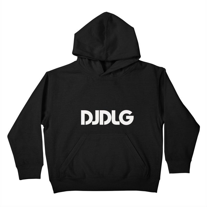 DJ DLG (White Logo) Kids Pullover Hoody by Lazor Music Merchandise