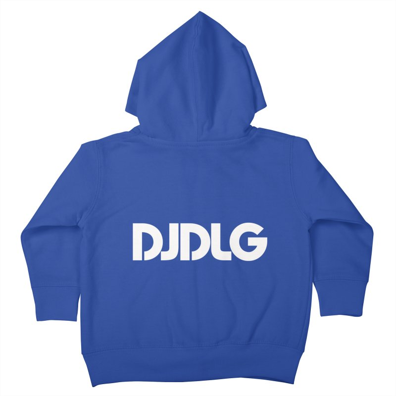 DJ DLG (White Logo) Kids Toddler Zip-Up Hoody by Lazor Music Merchandise