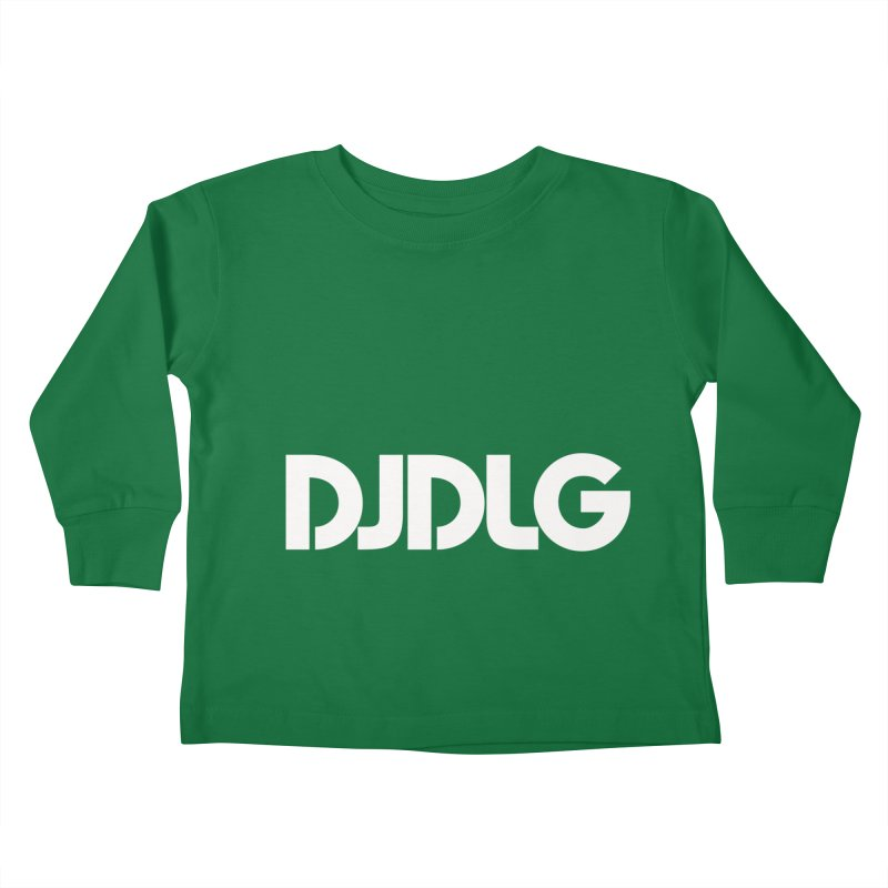 DJ DLG (White Logo) Kids Toddler Longsleeve T-Shirt by Lazor Music Merchandise
