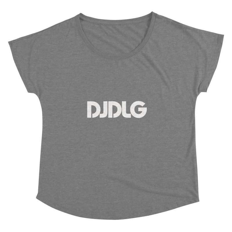 DJ DLG (White Logo) Women's Dolman by Lazor Music Merchandise