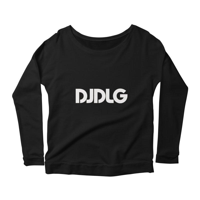 DJ DLG (White Logo) Women's Longsleeve Scoopneck  by Lazor Music Merchandise