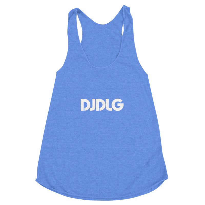 DJ DLG (White Logo) Women's Racerback Triblend Tank by Lazor Music Merchandise