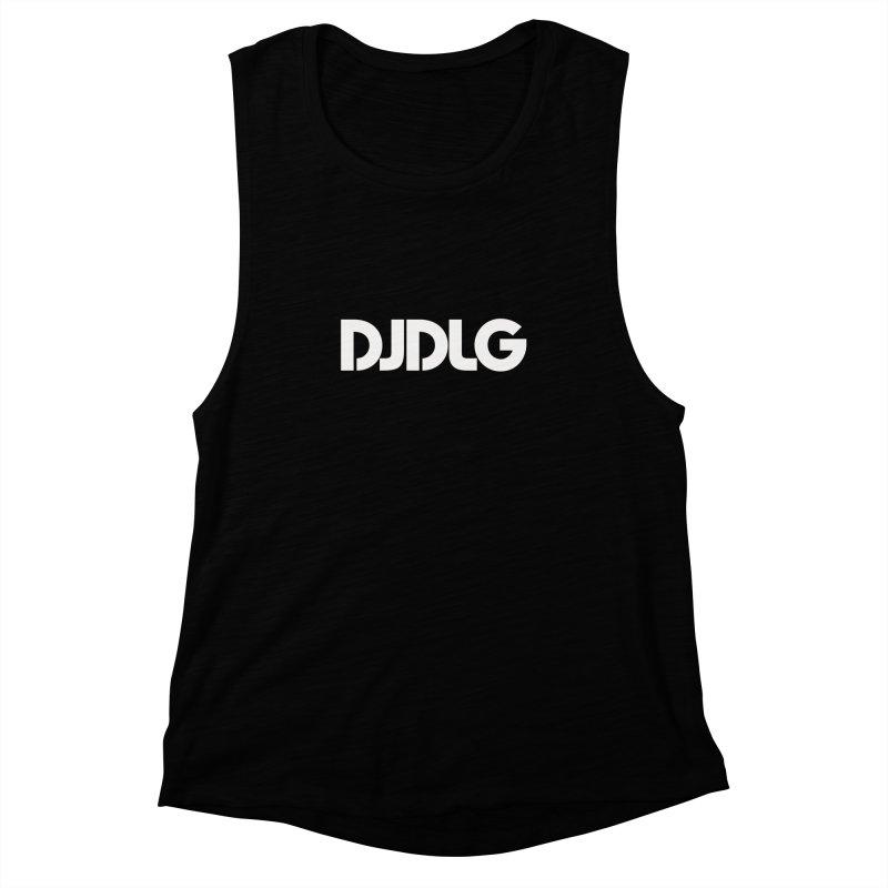 DJ DLG (White Logo) Women's Muscle Tank by Lazor Music Merchandise