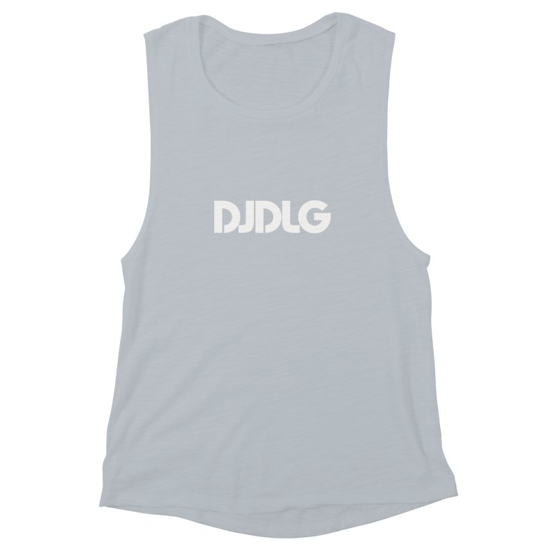 DJ DLG (White Logo) Women's Muscle Tank by Lazor Music Merchandise