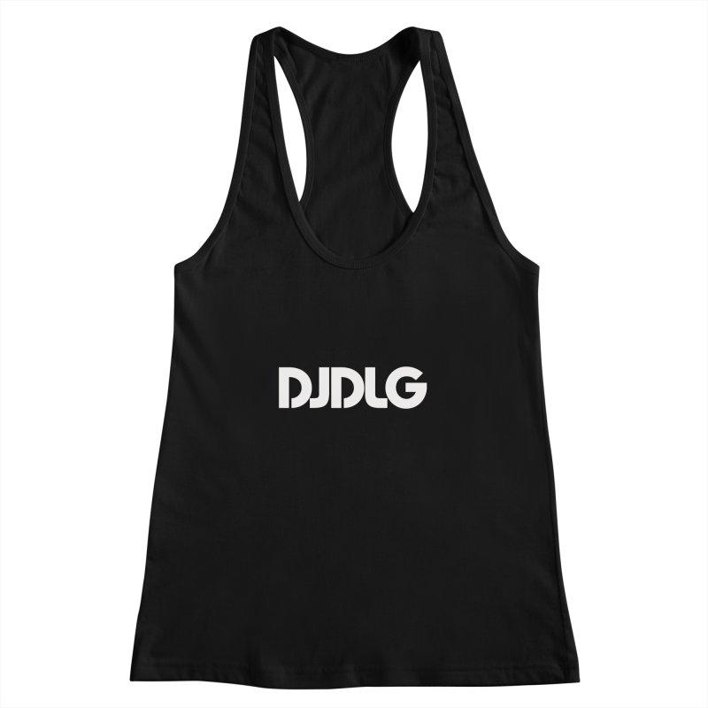 DJ DLG (White Logo) Women's Racerback Tank by Lazor Music Merchandise