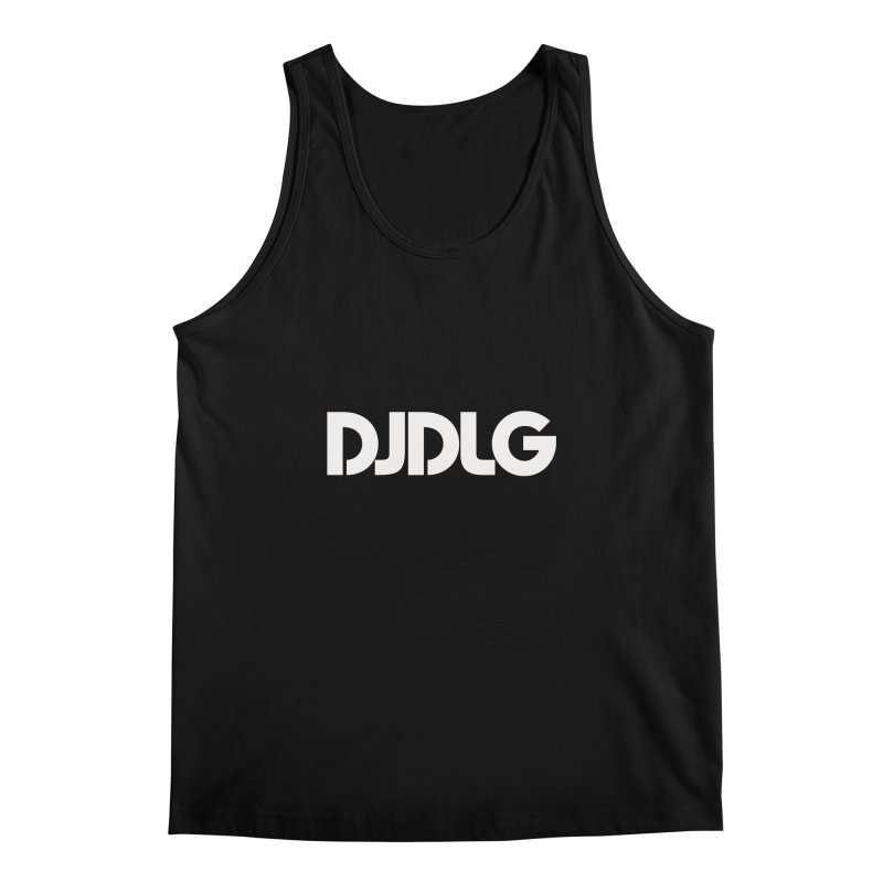 DJ DLG (White Logo) Men's Tank by Lazor Music Merchandise