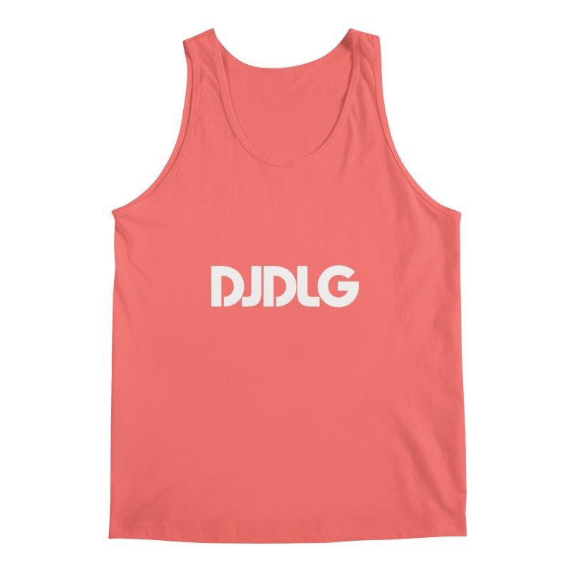 DJ DLG (White Logo) Men's Tank by Lazor Music Merchandise
