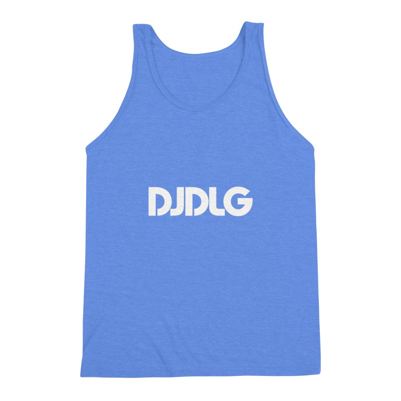 DJ DLG (White Logo) Men's Triblend Tank by Lazor Music Merchandise