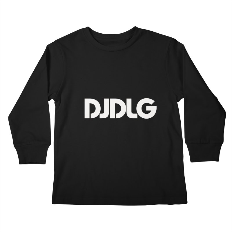 DJ DLG (White Logo) Kids Longsleeve T-Shirt by Lazor Music Merchandise