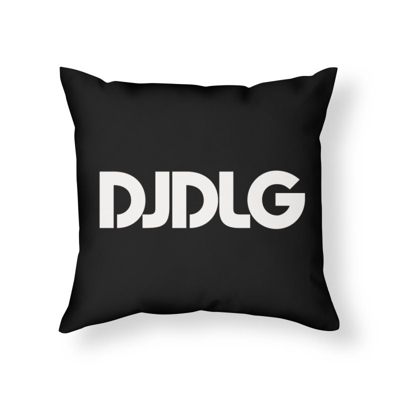 DJ DLG (White Logo) Home Throw Pillow by Lazor Music Merchandise