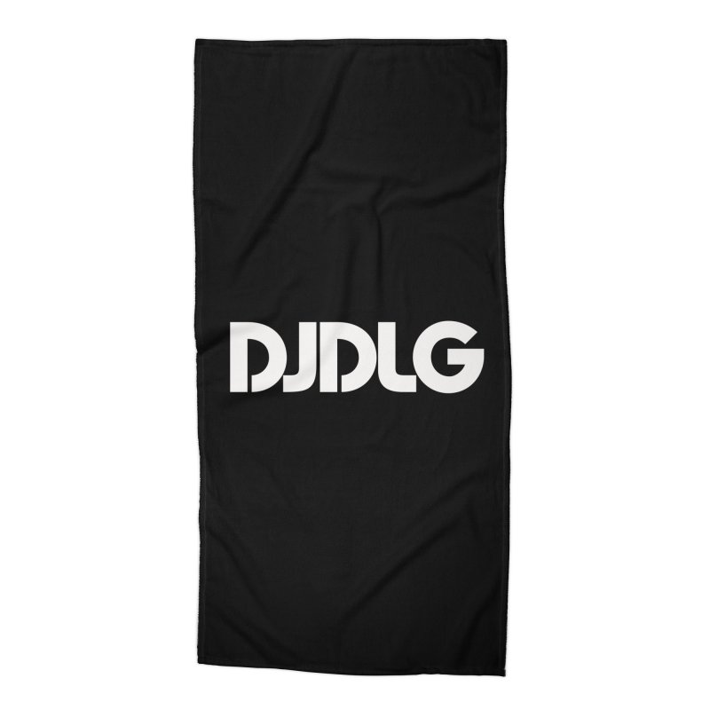 DJ DLG (White Logo) Accessories Beach Towel by Lazor Music Merchandise