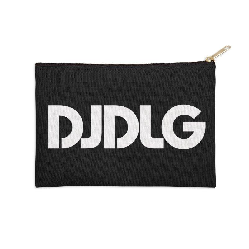 DJ DLG (White Logo) Accessories Zip Pouch by Lazor Music Merchandise