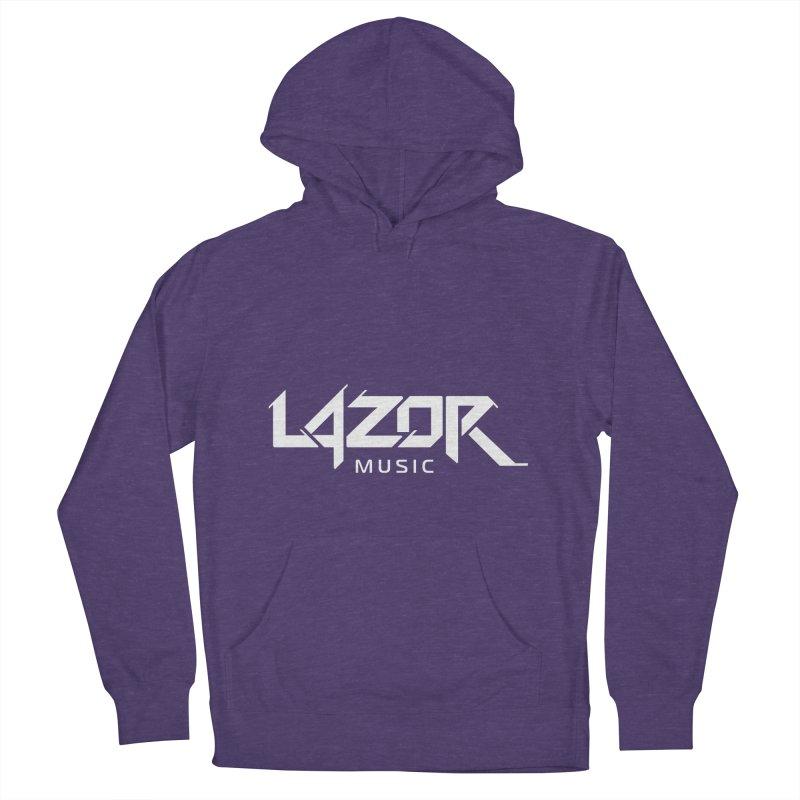 Lazor Music (White Logo) Men's Pullover Hoody by Lazor Music Merchandise