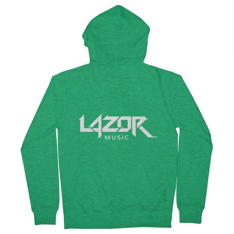Lazor Music (White Logo) Women's Zip-Up Hoody by Lazor Music Merchandise
