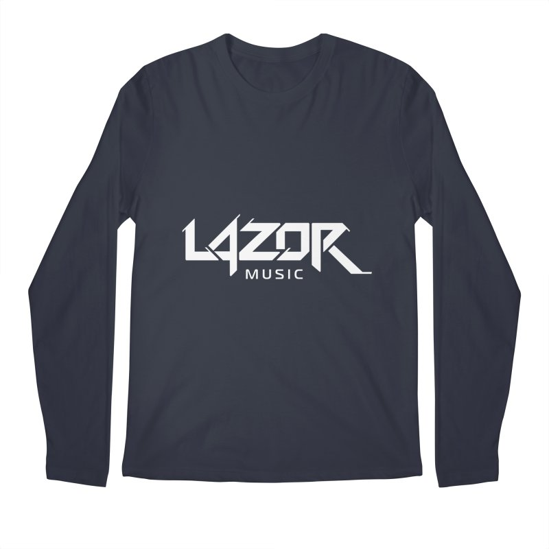 Lazor Music (White Logo) Men's Longsleeve T-Shirt by Lazor Music Merchandise