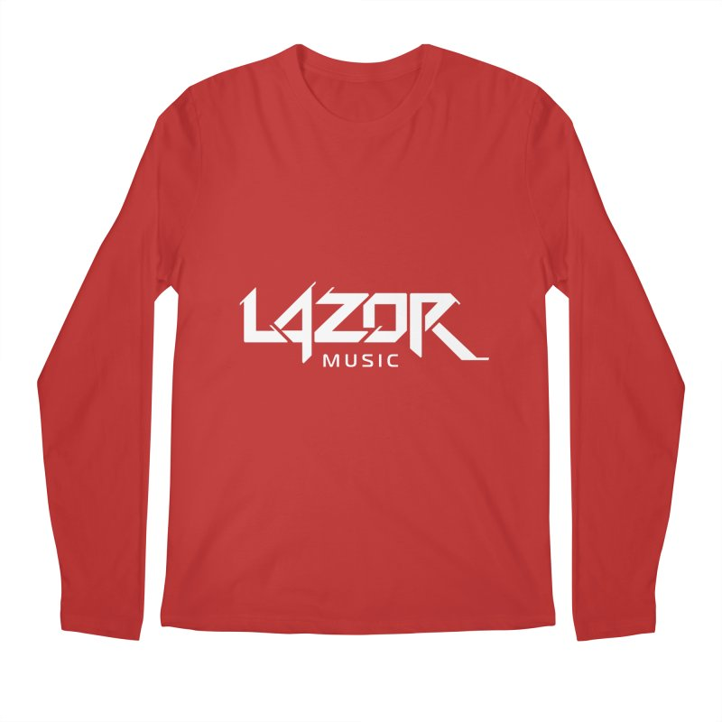 Lazor Music (White Logo) Men's Longsleeve T-Shirt by Lazor Music Merchandise