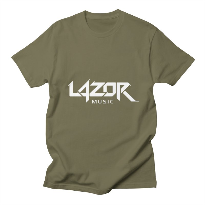 Lazor Music (White Logo) Men's T-shirt by Lazor Music Merchandise