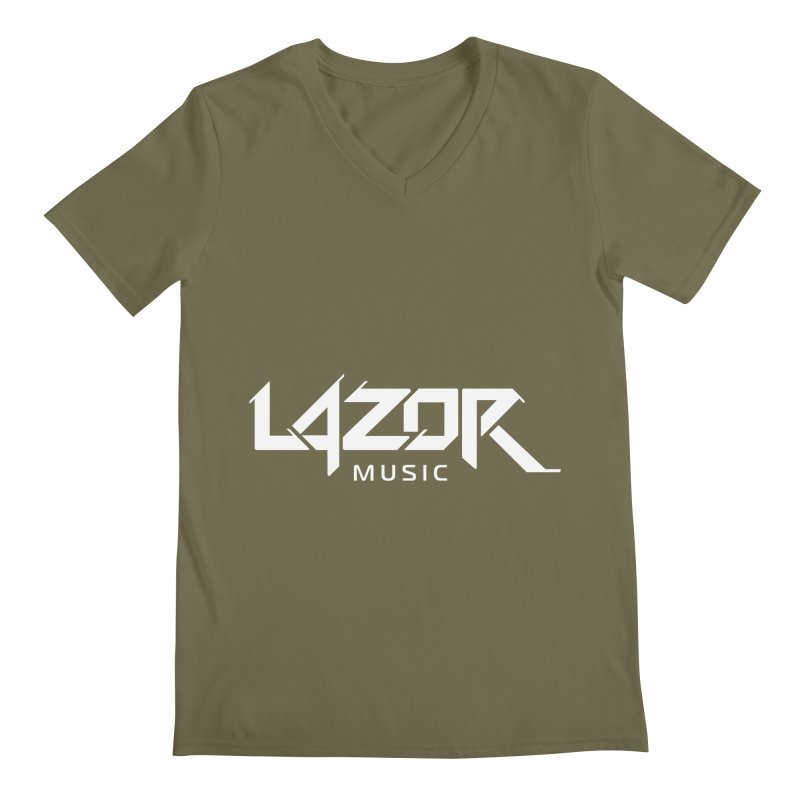 Lazor Music (White Logo) Men's V-Neck by Lazor Music Merchandise