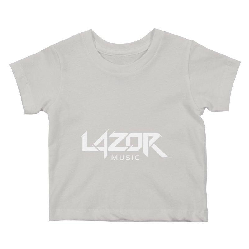 Lazor Music (White Logo) Kids Baby T-Shirt by Lazor Music Merchandise