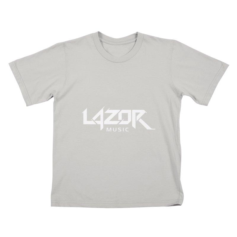 Lazor Music (White Logo) Kids T-Shirt by Lazor Music Merchandise