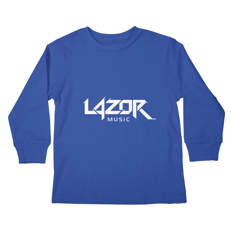 Lazor Music (White Logo) Kids Longsleeve T-Shirt by Lazor Music Merchandise