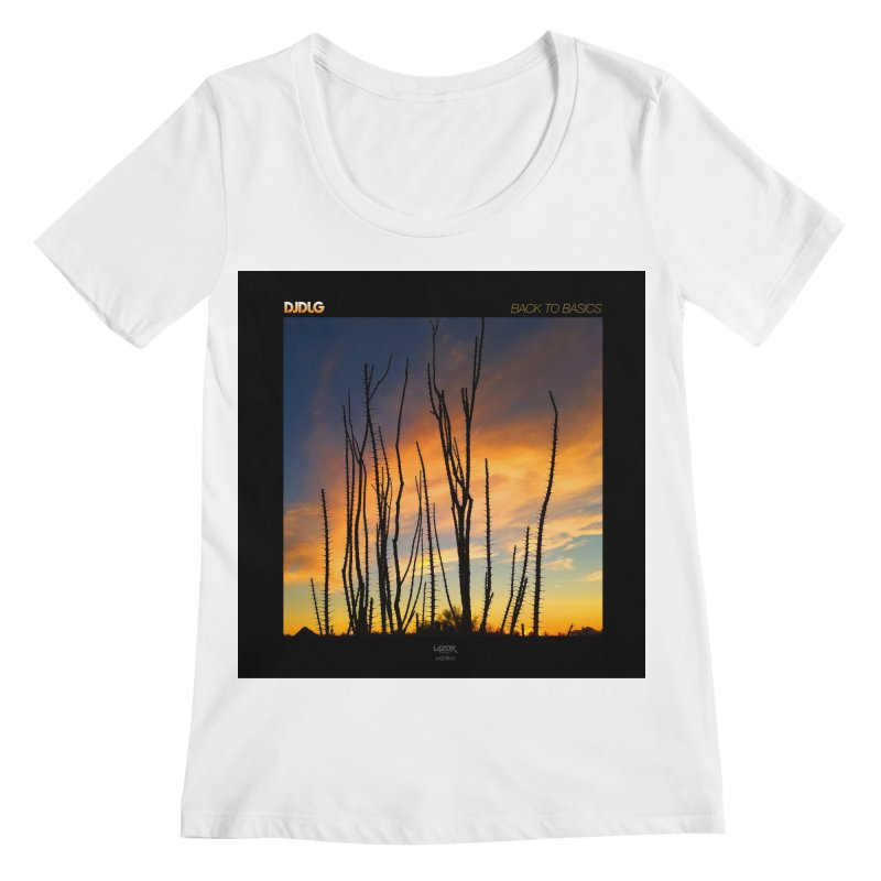Back To Basics (Cover Art)  Women's Scoopneck by Lazor Music Merchandise