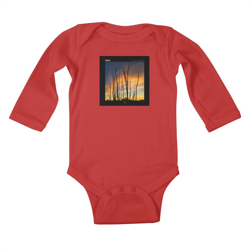 Back To Basics (Cover Art)  Kids Baby Longsleeve Bodysuit by Lazor Music Merchandise