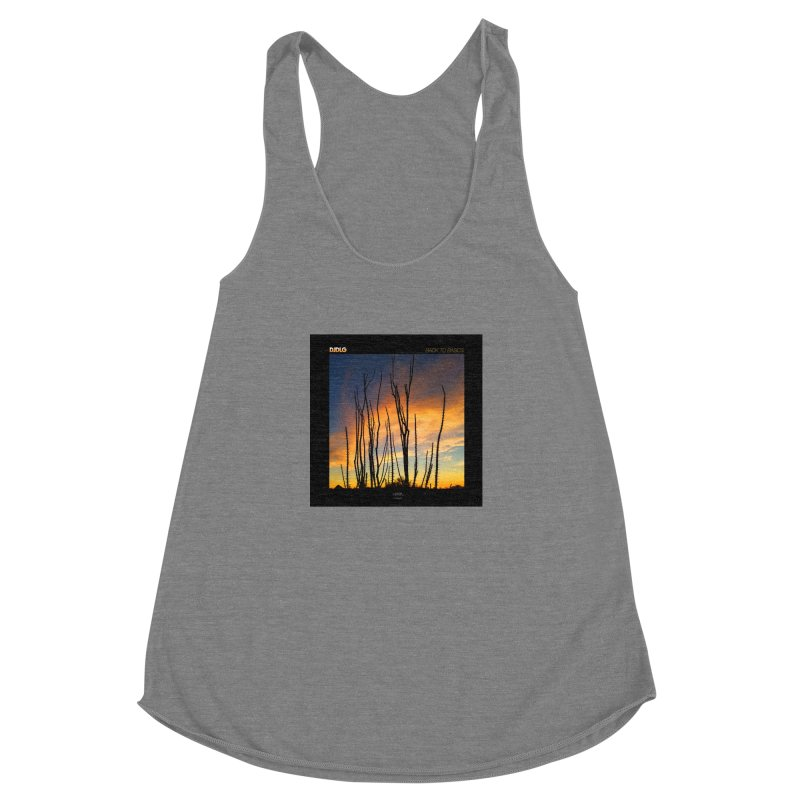 Back To Basics (Cover Art)  Women's Racerback Triblend Tank by Lazor Music Merchandise