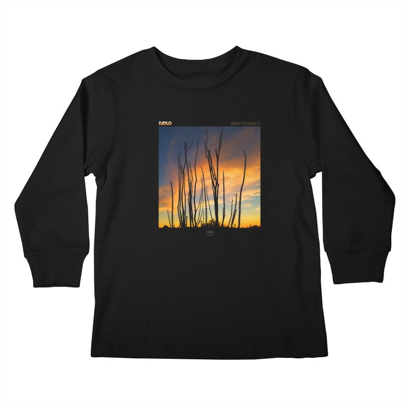 Back To Basics (Cover Art)  Kids Longsleeve T-Shirt by Lazor Music Merchandise
