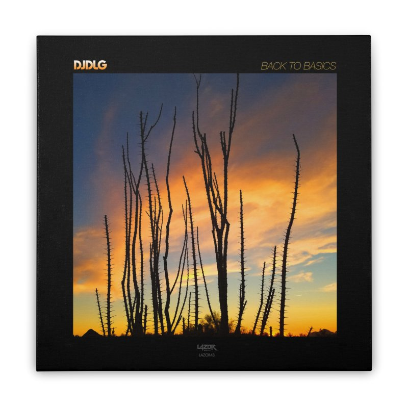 Back To Basics (Cover Art)  Home Stretched Canvas by Lazor Music Merchandise