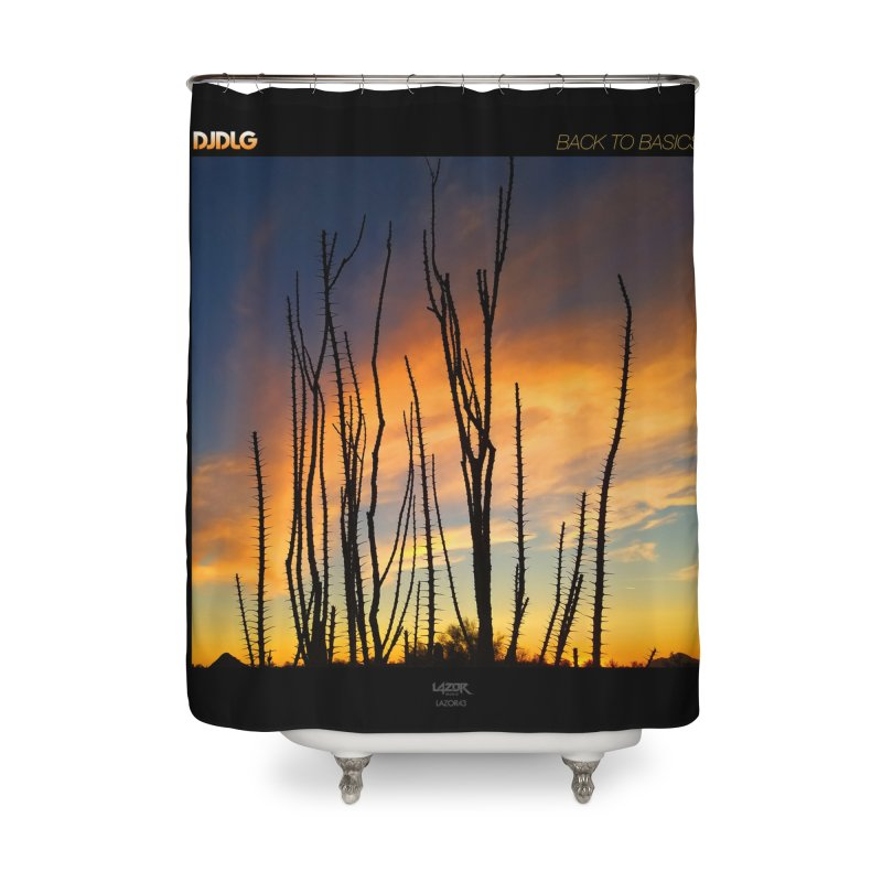 Back To Basics (Cover Art)  Home Shower Curtain by Lazor Music Merchandise